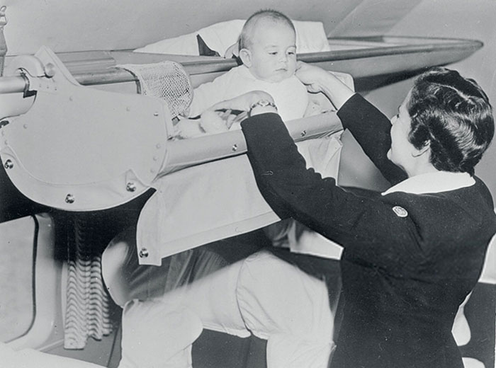 1950s Photos Show How Babies Used To Travel On Airplanes Demilked