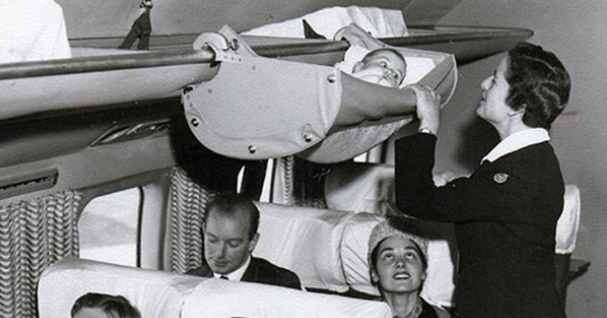 1950s Photos Show How Babies Used To Travel On Airplanes