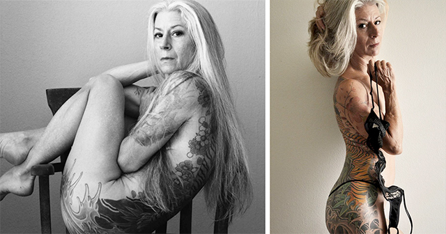 Tattoo mature women nude