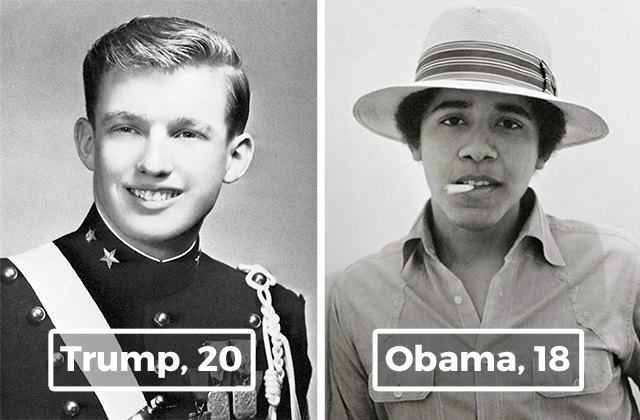 11 Portraits Of Young Us Presidents
