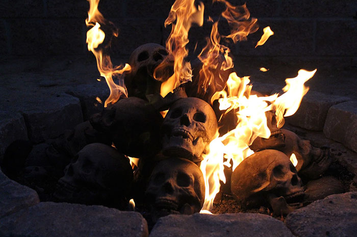 Terrifying Burning Skulls Are Actually Fireproof Logs For