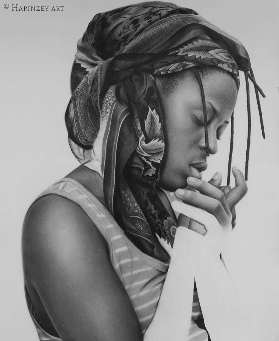 Nigerian Pencils Drawing Pencil Sketch