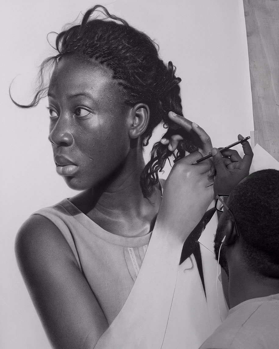 Nigerian Artist Drawing