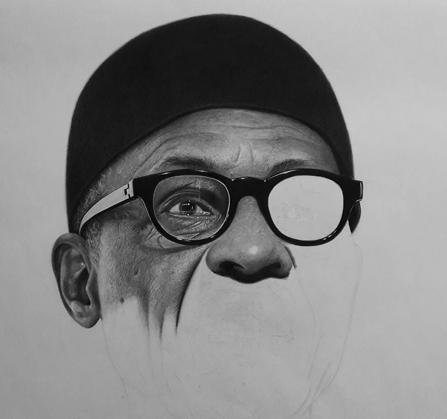 Hyperrealistic Pencil Drawings By Nigerian Artist | DeMilked