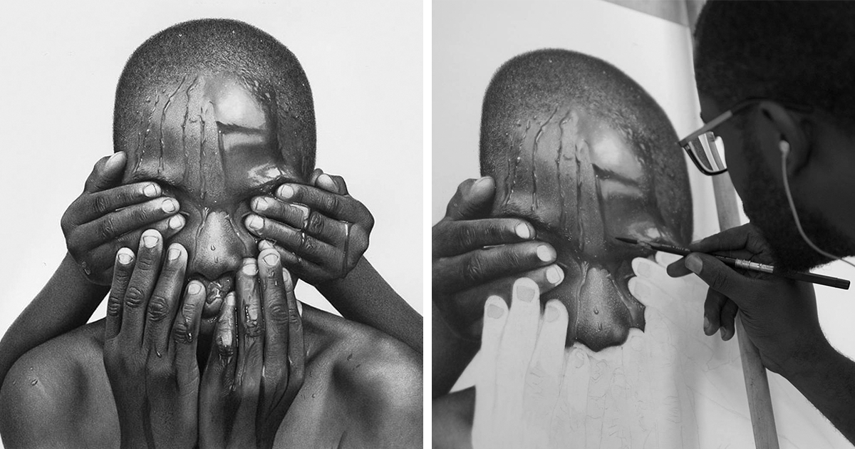 Hyperrealistic pencil drawings by nigerian artist