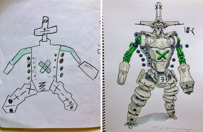 Dad Turns His Sons' Doodles Into Anime Characters, And The ...