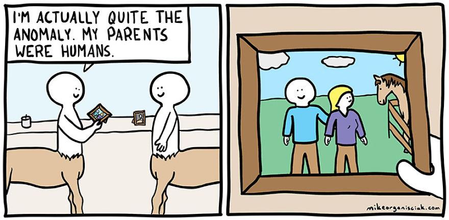 Comic strip dark humor