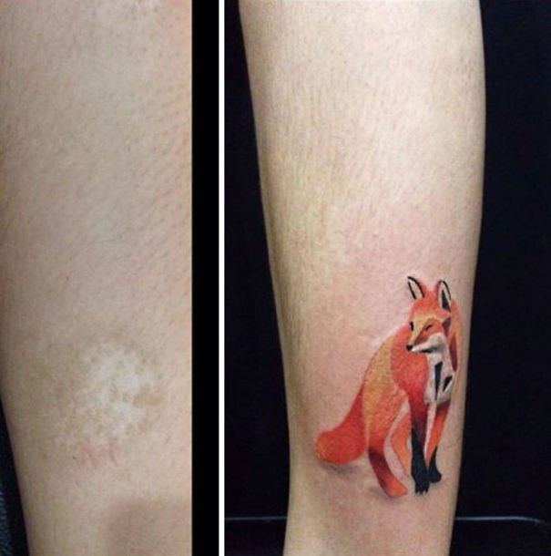 10+ Amazing Scar Cover-Up Tattoos