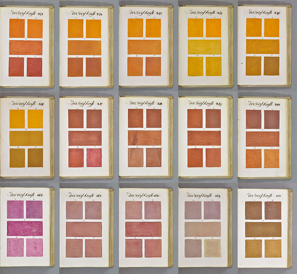 Years Before Pantone One Man Painted Every Color Imaginable - This 800 page book listed every colour imaginable 271 years before pantone