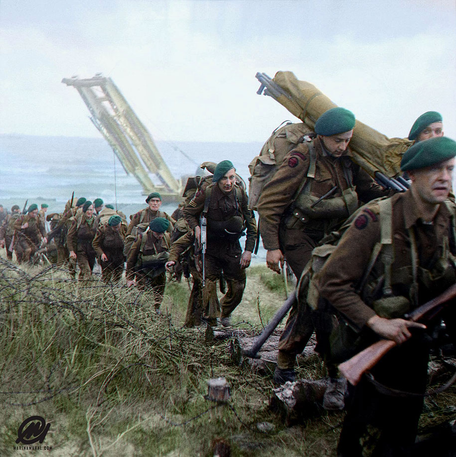 Artist Colorizes Rare Photos Of The Brutal D-Day Battle On