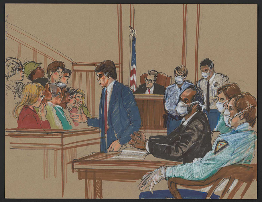 10+ Rare Courtroom Sketches From Most Infamous Trials ...