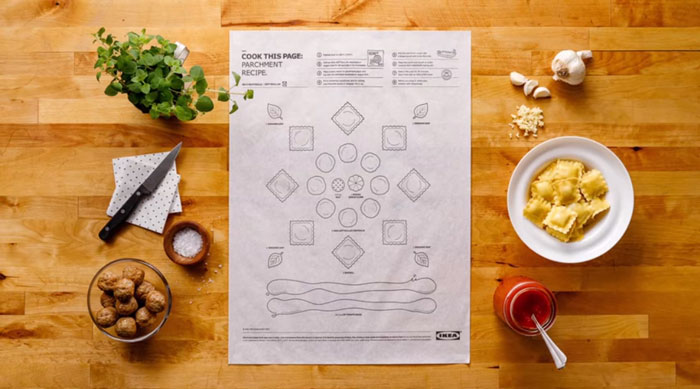 ikea s genius recipe sheets make cooking easy for everyone with a