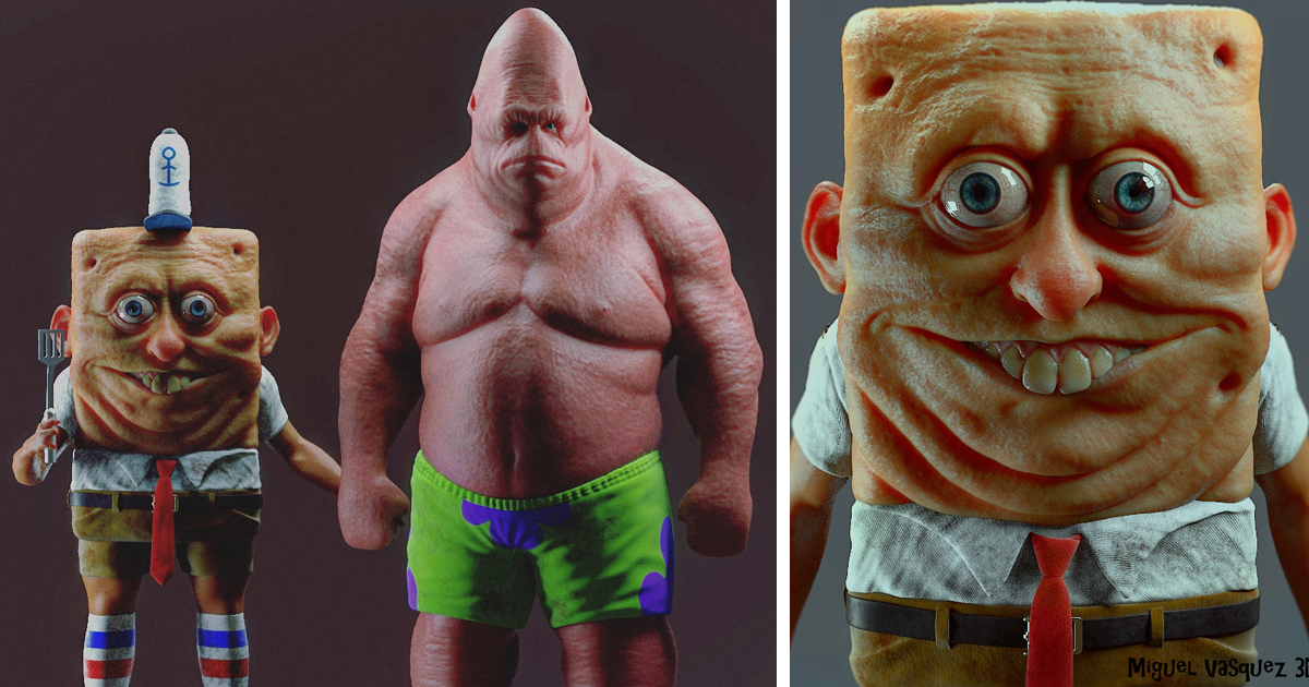 Cartoon Characters Realistic : Realistic cartoon characters you would run away from