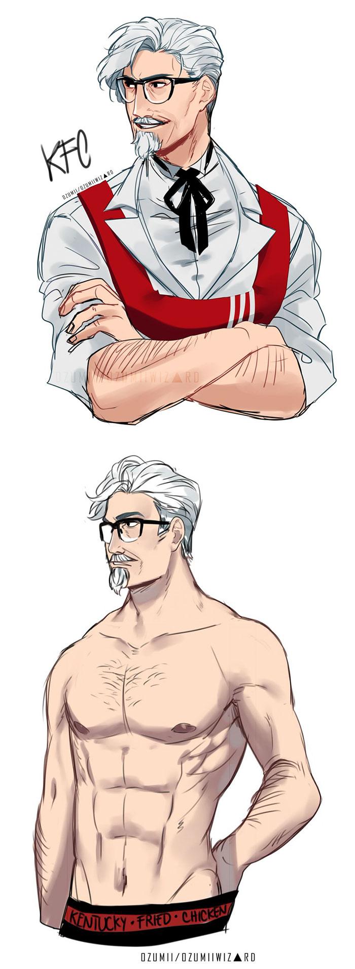 1 KFC Colonel Sanders