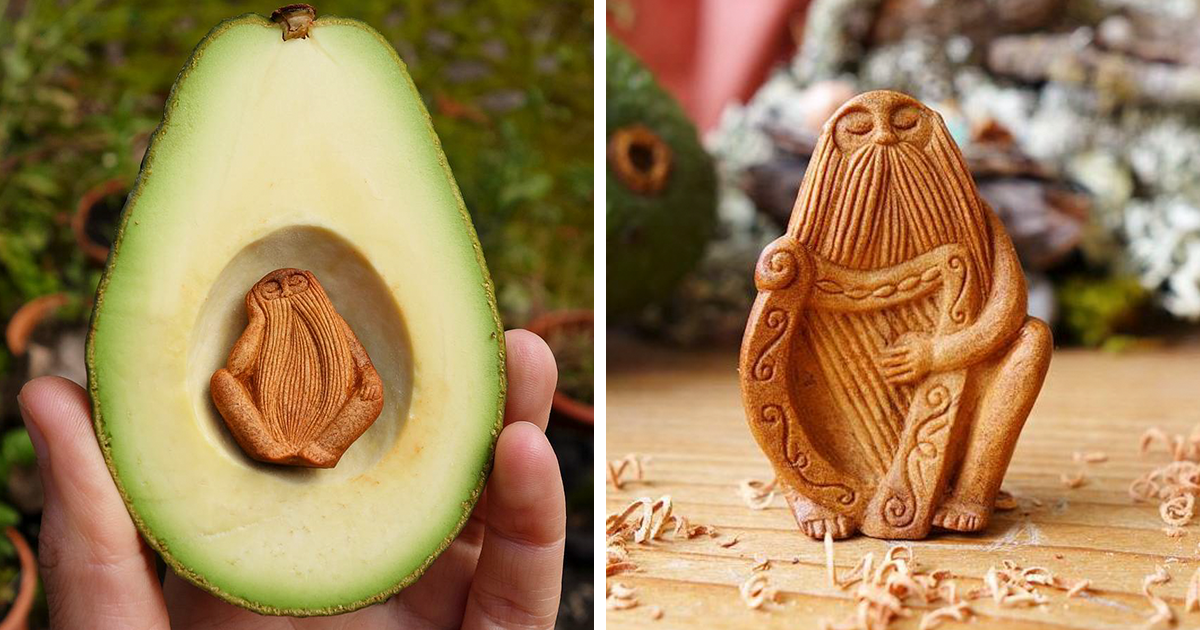 While Most Throw Away Avocado Pits, This Irish Artist ...