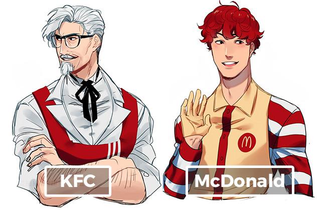 Anime Fast Food Mascots