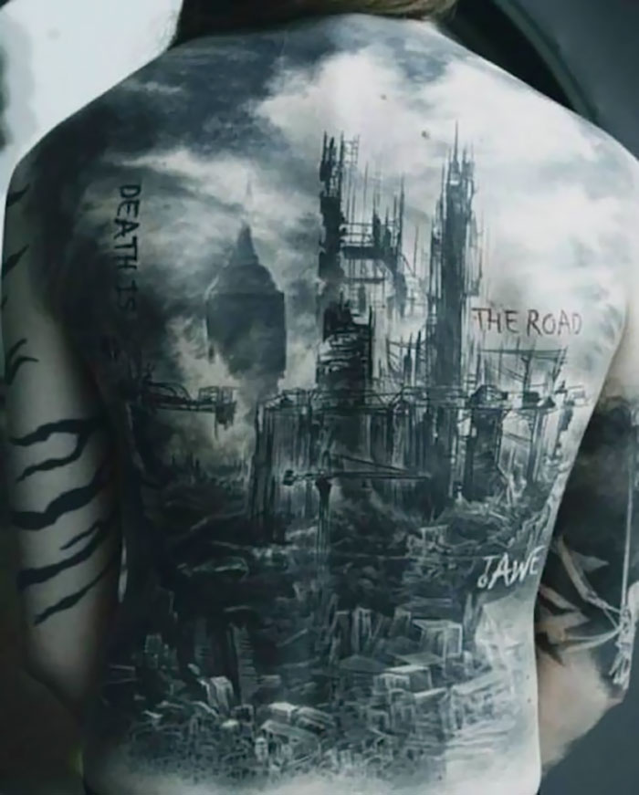 10 best architectural tattoos that will make you want one part 6. Black Bedroom Furniture Sets. Home Design Ideas