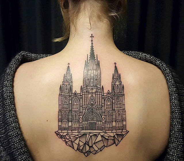 10 best architectural tattoos that will make you want one. Black Bedroom Furniture Sets. Home Design Ideas