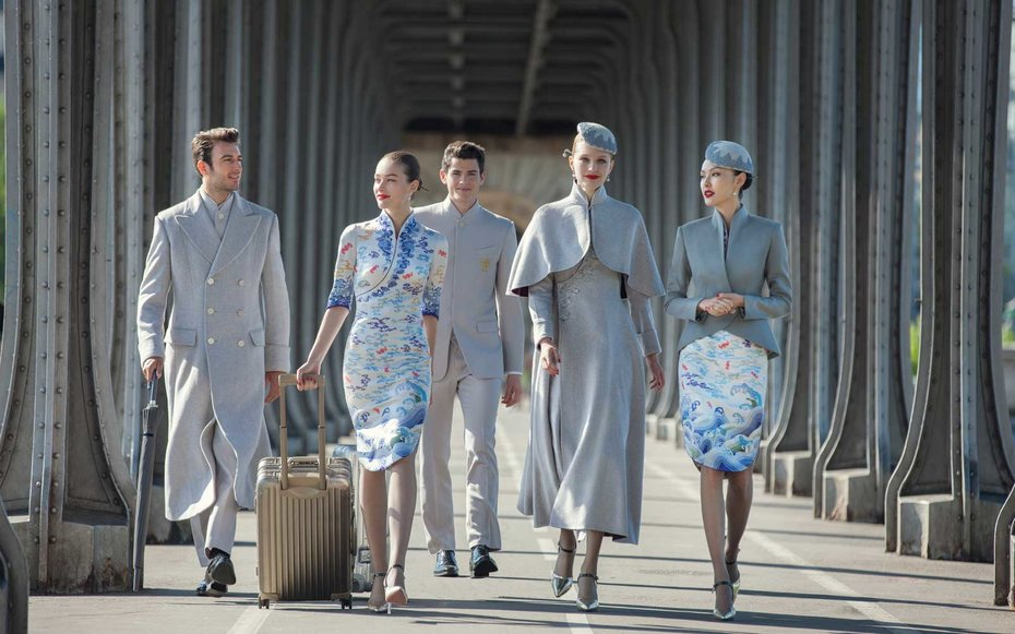 Chinese Airline Introduces New Haute Couture Uniforms, And
