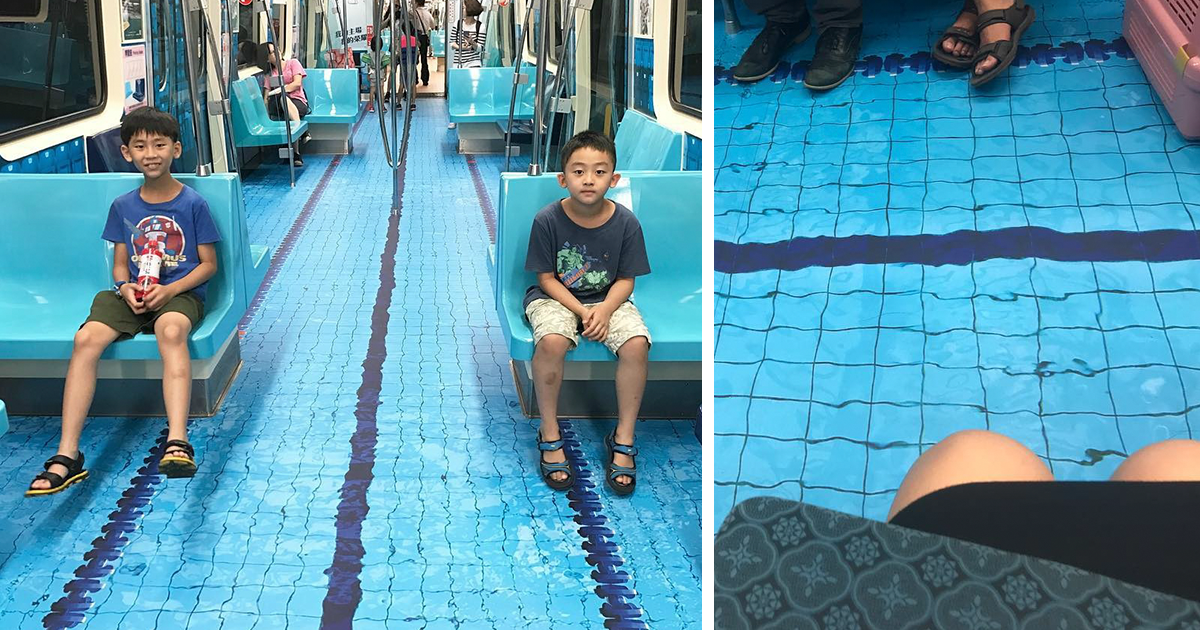 Taiwan Surprised People By Turning Subway Cars Into Photo