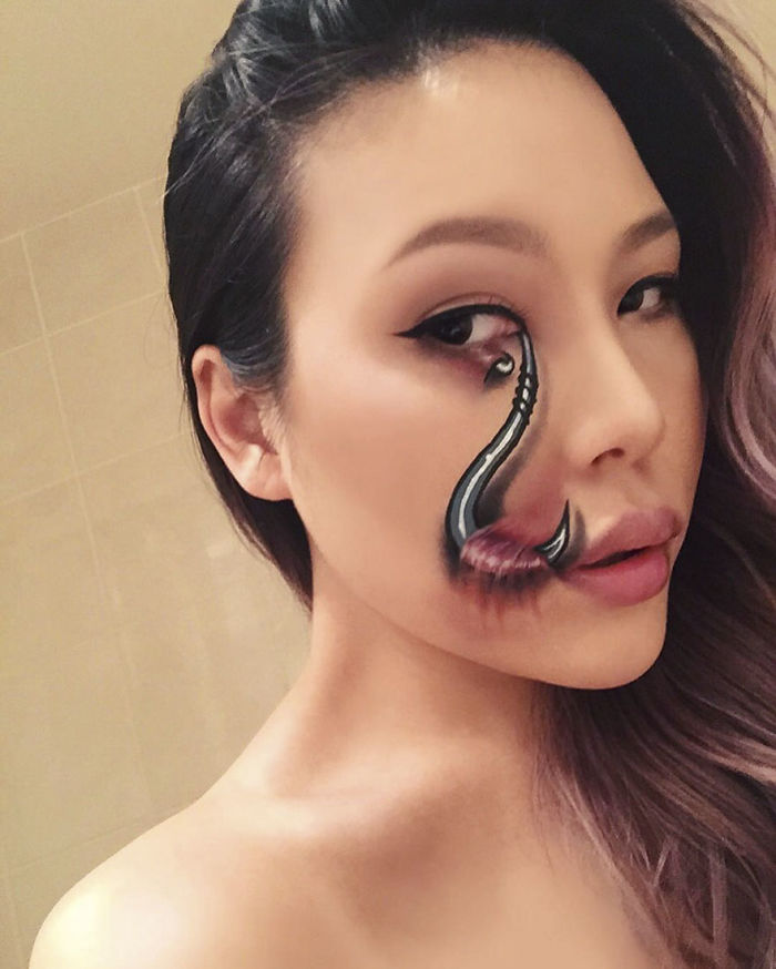 Former Teacher Creates Terrifying Makeup Illusions And