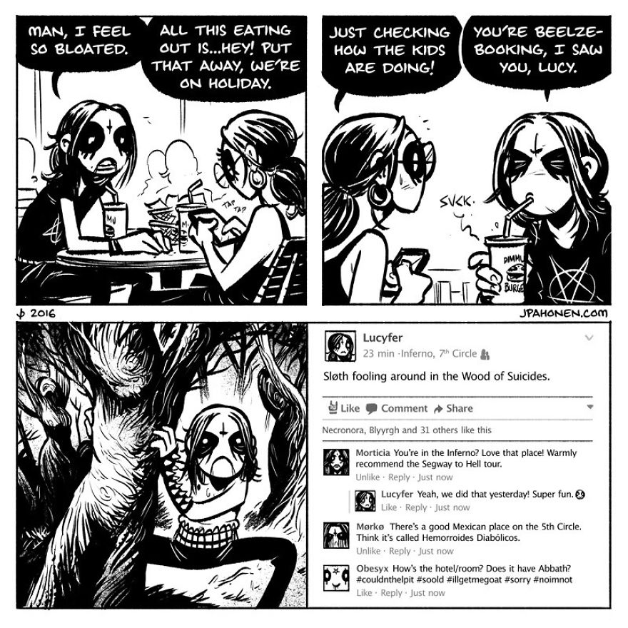 Everyday Life Of A Metalhead Couple In 10 Adorable Comics
