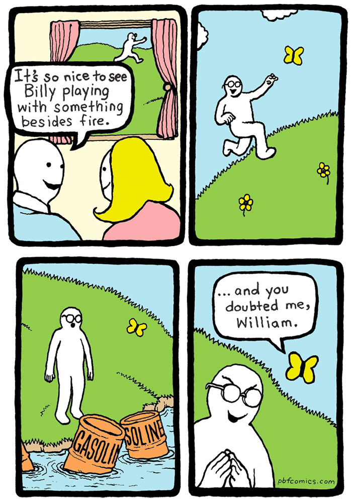 Hilarious Comics With Unexpectedly Dark Endings By Perry - 20 hilarious comics that end with an unexpected twist by war and peas