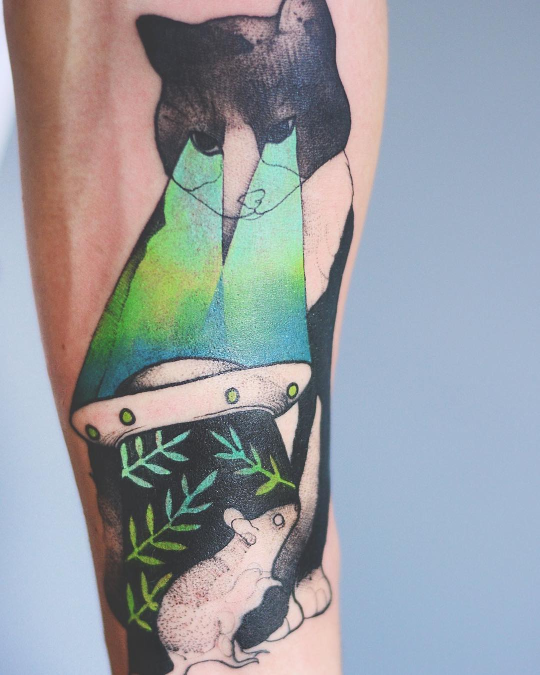 10+ Elegant Animal Tattoos In Psychedelic Colors By A Polish Artist ...