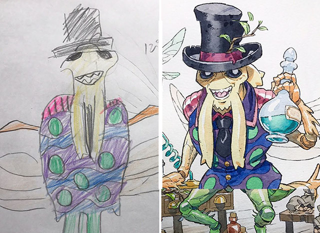 Dad Turns His Sons Doodles Into Anime Characters And The Results Are Awesome Part 3 Demilked