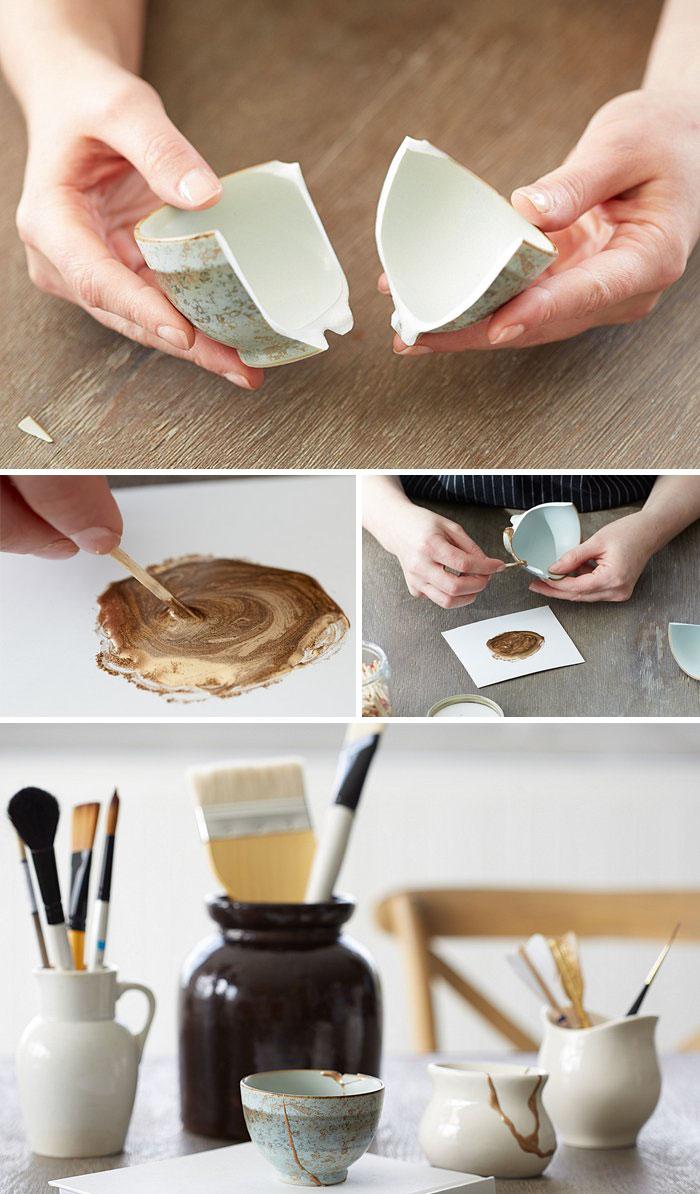 "4a394c6bc47  28 How To ""Unbreak"" Broken Ceramics With The Ancient Japanese Technique  Kintsugi"
