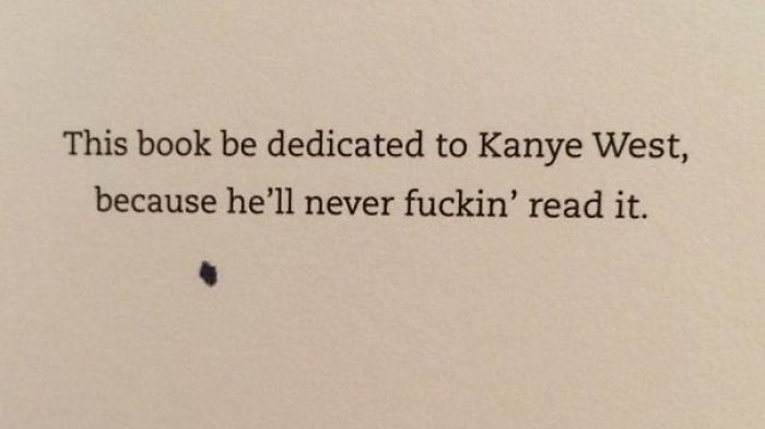 10 most creative book dedication pages ever