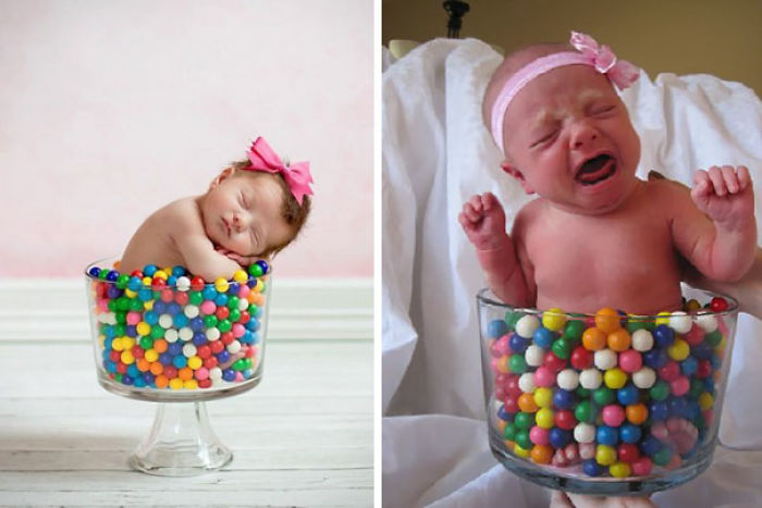 15 funny pinterest baby photoshoots gone wrong 14 baby girl sleeping in a vase full of gumballs nailed it solutioingenieria Image collections