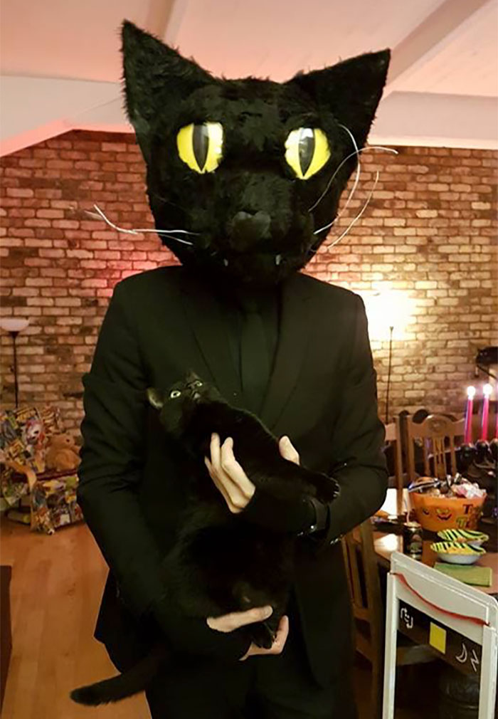 #9 My Buddy Dressed Up As His Cat For Halloween. Look At The Cats Face & 10+ Genius Halloween Costume Ideas That Took Dressing Up To Another ...
