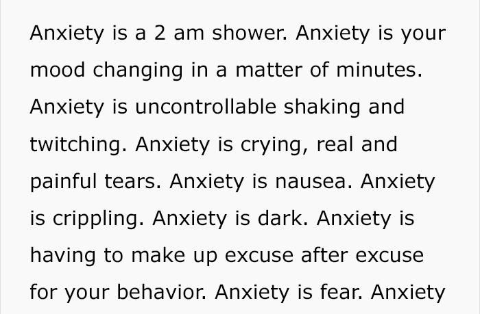 Woman, Tired Of People Not Knowing What Anxiety Is, Decides