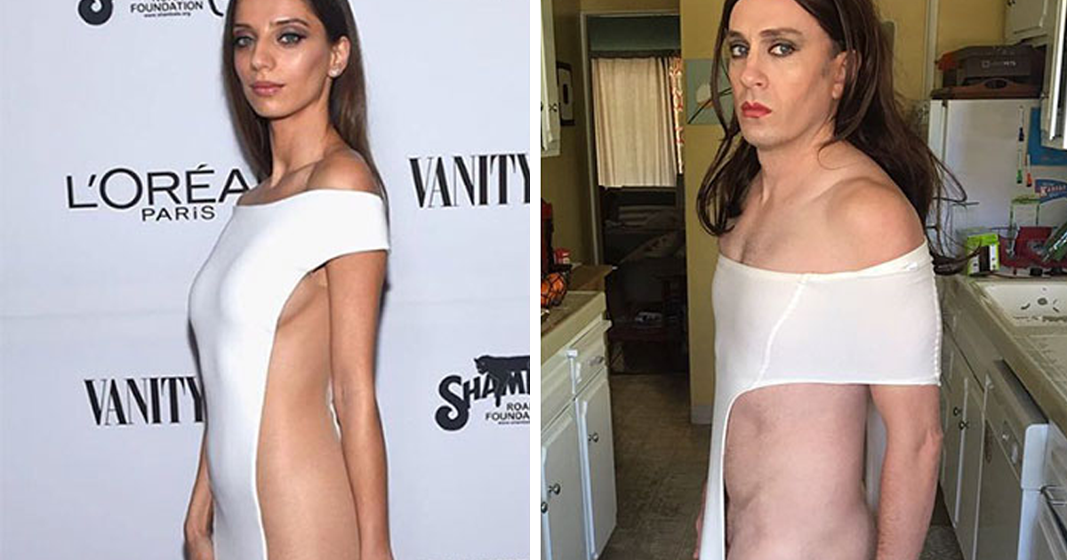 50 Celebrity Outfits Hilariously Recreated By The Former 'Buffy' Star Using Only Simple Household Items