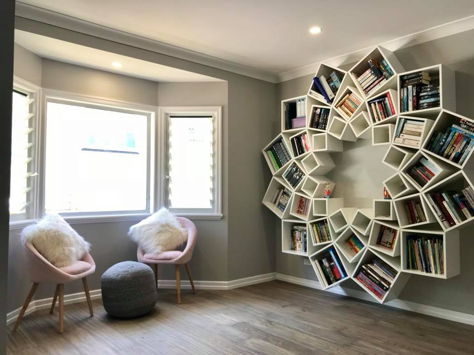 Incredible-Looking Bookshelf Created By A Couple From Australia on home light show, crafts show, home art show, jewelry show, lighting show, food show, home repair show, technology show, office show, home show giveaways, home delivery show,