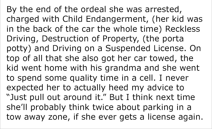 Rude Woman Doesnt Agree To Leave No Parking Zone And