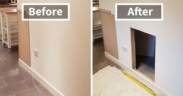 This Dog Was Getting A Human Sister, So Owners Turned The Space Under The  Stairs Into A Room, And The Result Is Better Than Expected