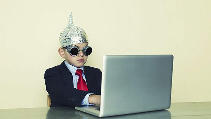 popular comedy tropes child in tinfoil hat