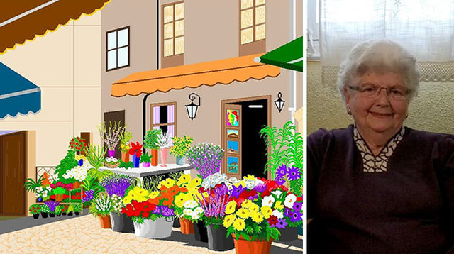 87 year old grandma uses microsoft paint in a way that would