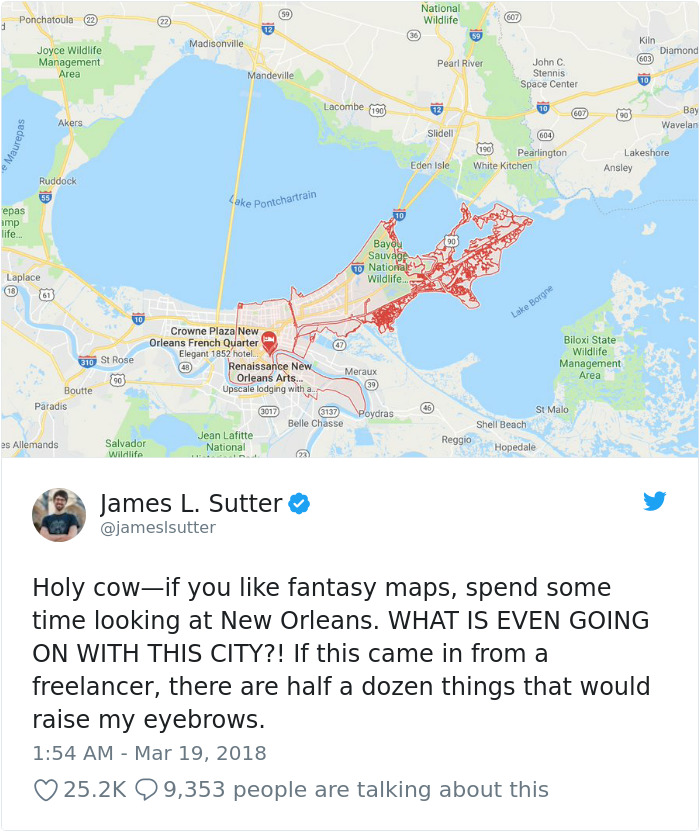 Game Designer Points Out Map Of New Orleans Does Not Make Sense And ...