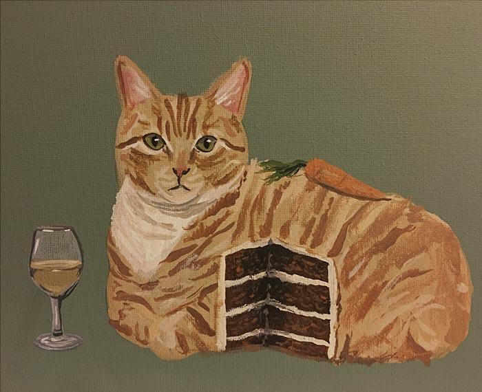 Mačka Art-painting-cats-surrealism-danial-ryan-6