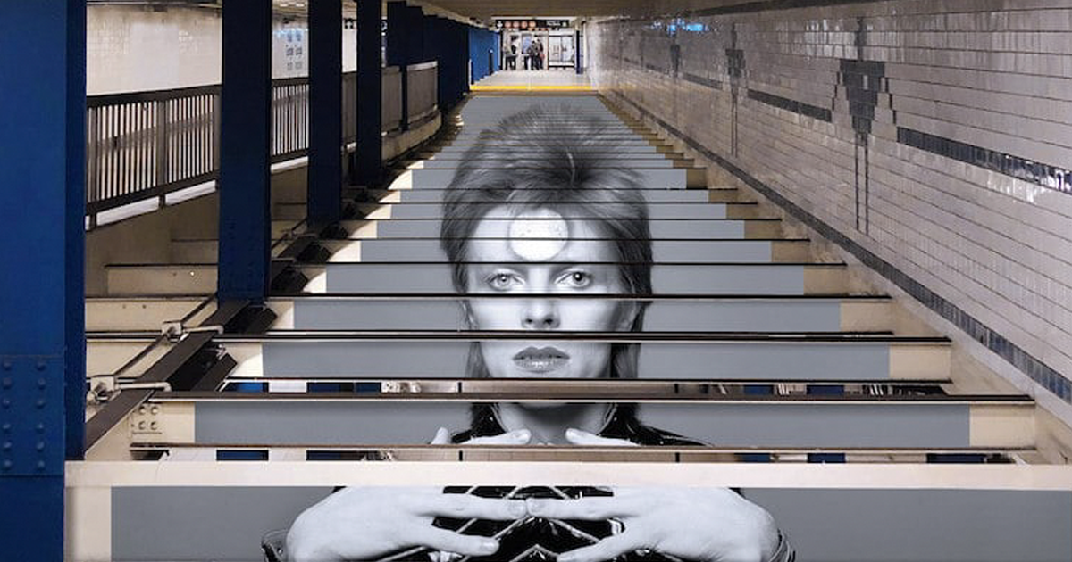 A Tribute To David Bowie Covers NYC Subway Station Honoring The Legend In The Most Epic Way