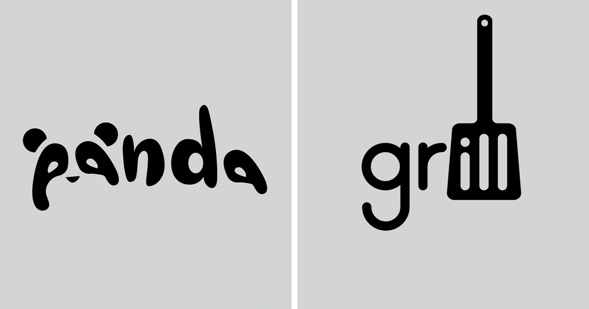designer challenges himself to create simple logos for words every