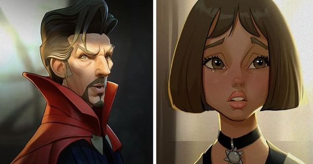 Artist Imagines Movie Actors As Cartoon Characters And Wed Love To
