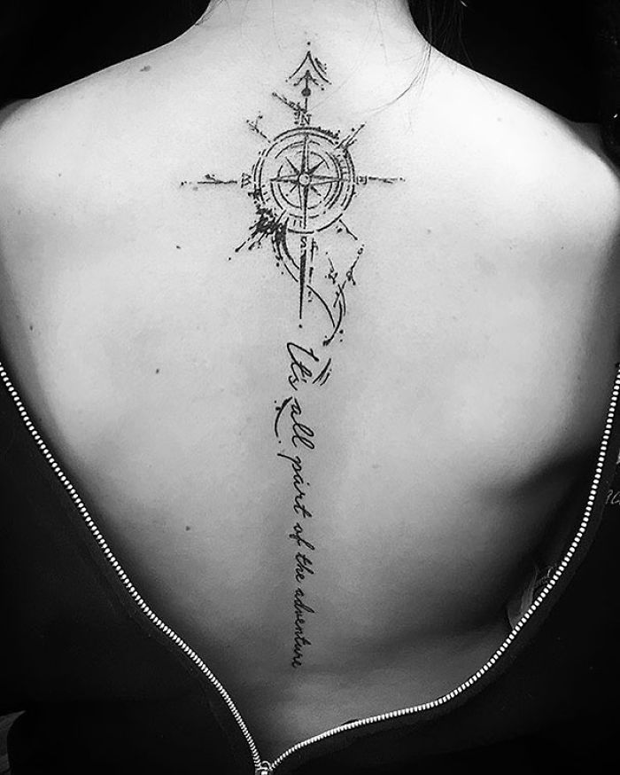 50 Stunning Spine Tattoo Ideas That Will Make You Want To ...