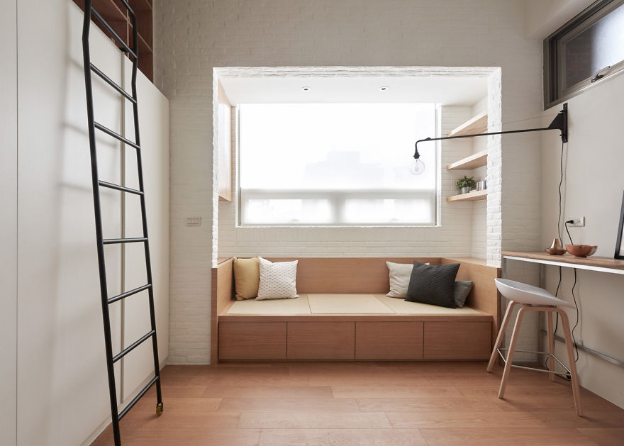 A Taiwanese design studio called \u0027A Little Design\u0027 took on a challenge to maximize the living space of a 22sq.m (236ft. sq) apartment & The Way Designers Transformed This Tiny 22m2 (236ft2) Space Is Genius