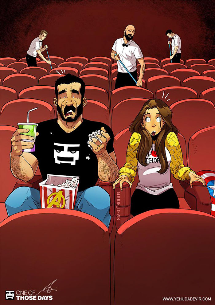 Artist Keeps Illustrating Everyday Life With His Wife And