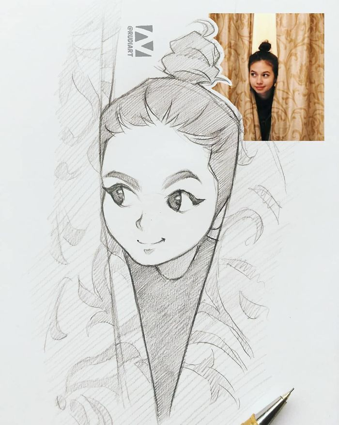 Indonesian Artist Sketches Real People As Cartoons And The Results Are Incredibly Accurate Demilked