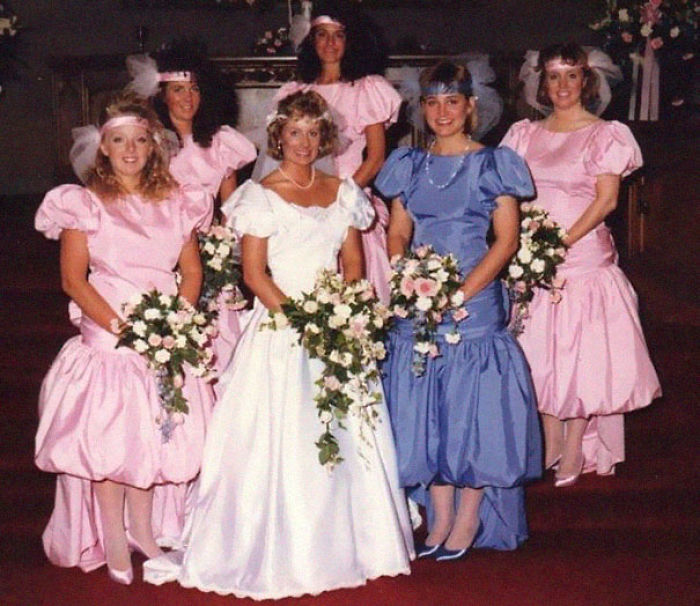 Bridesmaid Ugly Wedding Dresses: 15+ Hilarious Vintage Bridesmaid Dresses That Didn't Stand